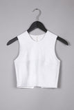 Leather Crop Top- White