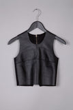 Leather Crop Top- Black
