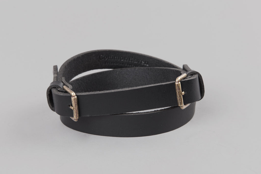 Leather Raven Belt With Brass Buckle
