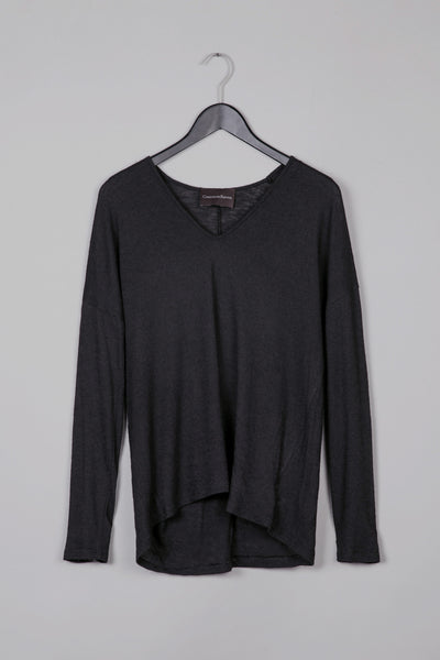 Over Sized Thin Knit- Black