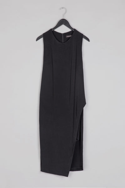 A- Symmetrical Racerback Dress- Black