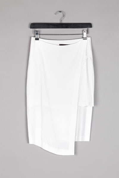 A-Symmetrical 3/4 Skirt- White