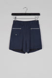 Viscose Zipper Shorts- Blue