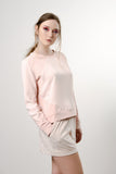 BLUSH HEXAGON SWEATER
