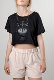 MATTE BLACK SWORDS CROP