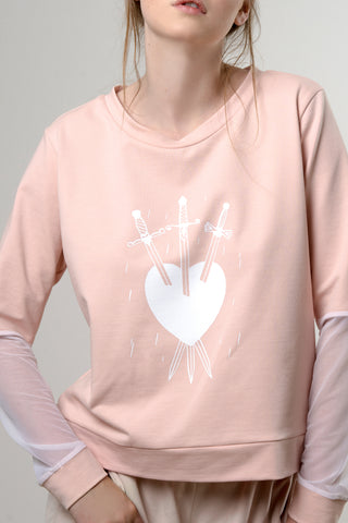 BLUSH SWORDS SWEATER