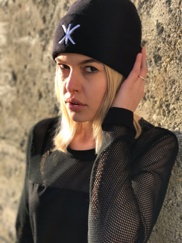 RIIKKA KK SIGN BEANIE BLACK