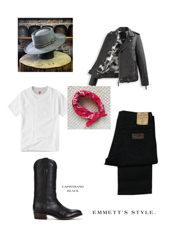 EMMMET SKYY'S RANCH ROAD BOOTS OUTFIT