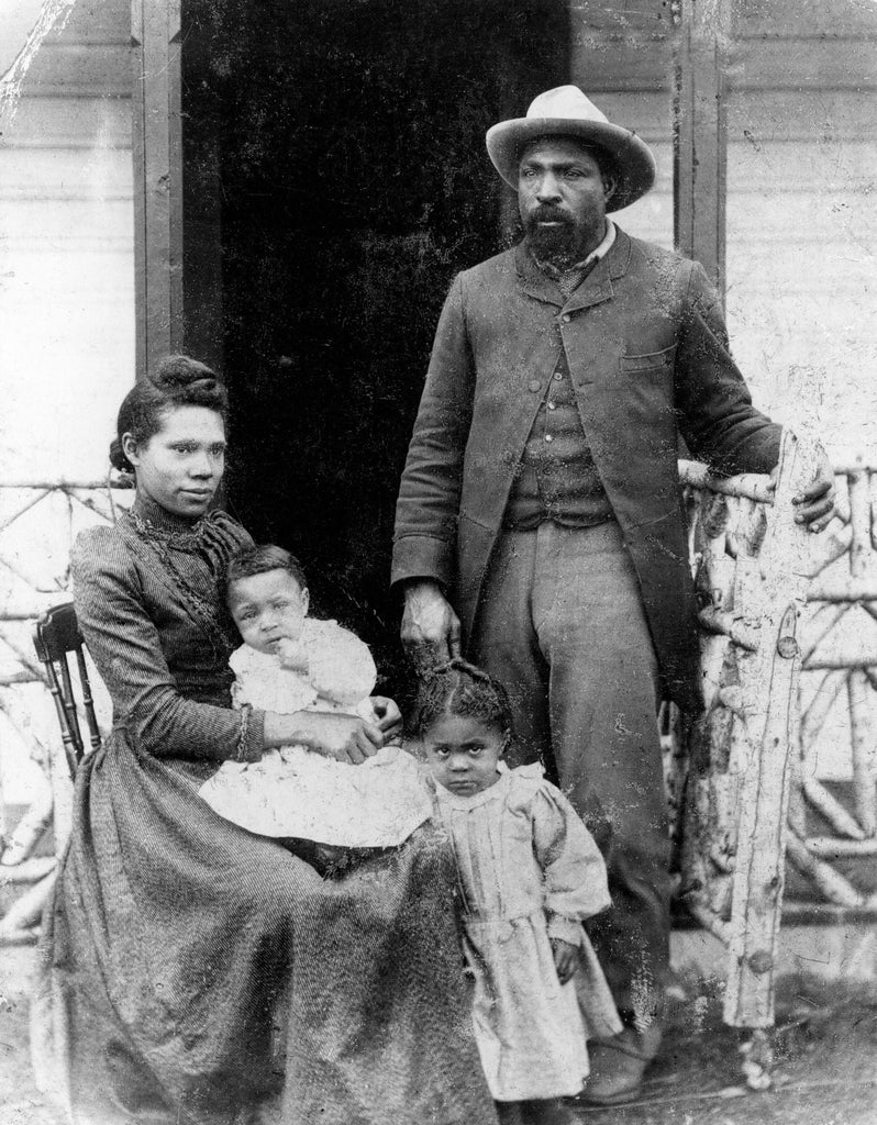 John Ware and family at home in Alberta, Canada.