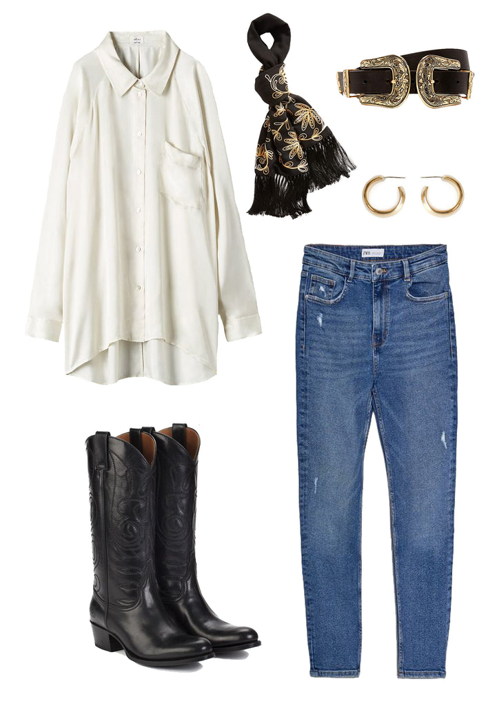 Ranch Road Boots Kendall Black Cowboy Boots Outfit