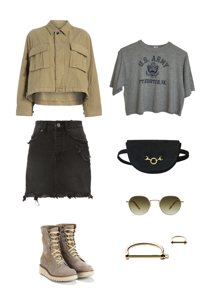 Ladies military trend style inspiration