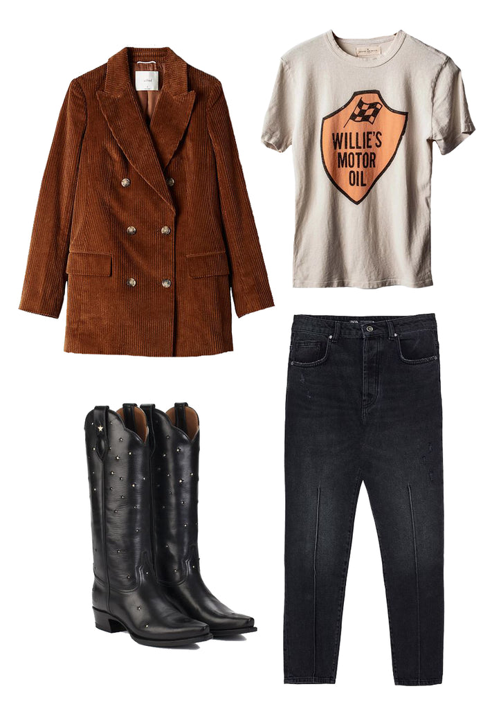Ranch Road Boots Presidio Black Cowboy Boots Outfit