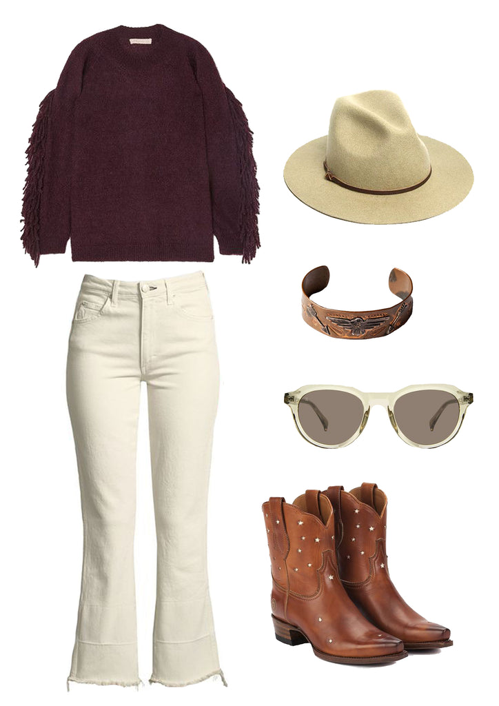 Ranch Road Boots Presidio Short Cognac Cowboy Boots Outfit
