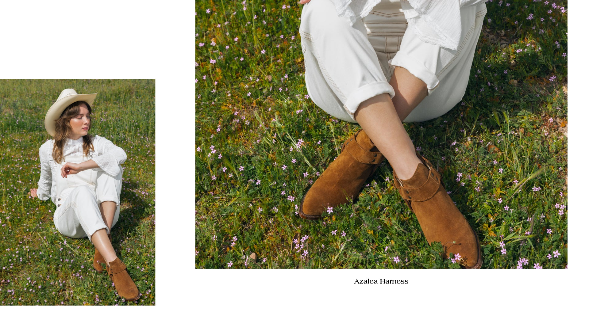 Ranch Road Boots-Women's Boots-Spring-Summer-2020-Azalea Harness-Suede-Brown-Moto-Booties
