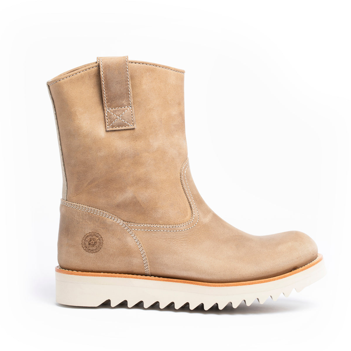 Boot - Women's Current Issue Wellington Sand - Right Profile- Outside -Boot