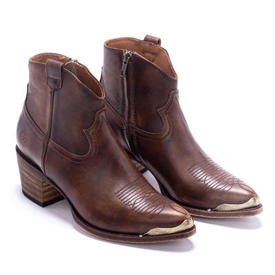 Womens Agave Rand Brown Leather Boot - Ranch Road Boots™ Pair