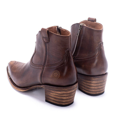 Womens Agave Rand Brown Leather Boot - Ranch Road Boots™ Side Back Pair