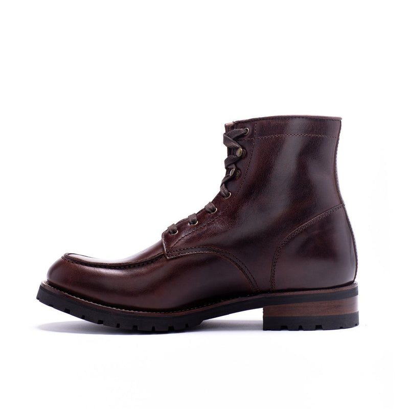 Mens Aster Brown Military Inspired Leather Boot - Ranch Road Boots™