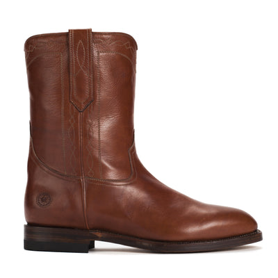 Mens Handmade Leather Bexar Cognac Boots - Ranch Road Boots™  - side