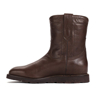 Mens Handmade Bexar Wedge Brown Casual Boots - Ranch Road Boots™ Side