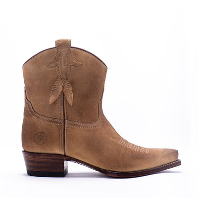 Womens Bluebell Feather Camel Suede Boot - Ranch Road Boots™