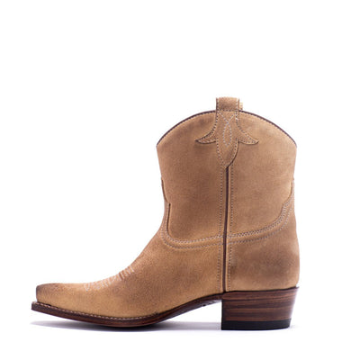 Womens Bluebell Feather Camel Suede Boot - Ranch Road Boots™ Side