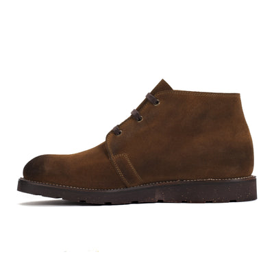 Mens Tan Leather Lace-Up Handmade Brogan Boots - Ranch Road Boots™ Side