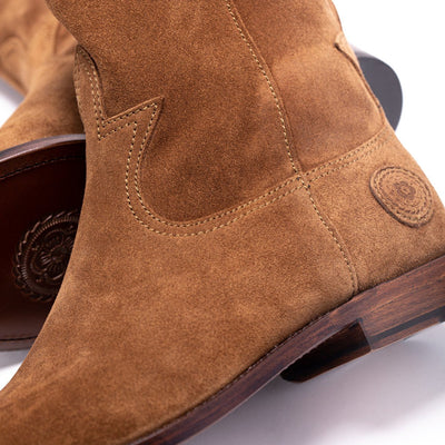 Mens Cactus Brown Handmade Western Boots - Ranch Road Boots™ Stitching Detail