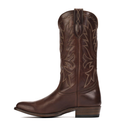 Mens Carson County Brown Handmade Cowboy Boots - Ranch Road Boots™ Side