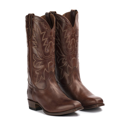 Mens Carson County Brown Handmade Cowboy Boots - Ranch Road Boots™ Pair