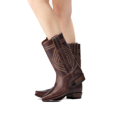 Womens Fayette Brown - Traditional Western Boots - Ranch Road Boots™ Pair
