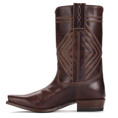 Womens Fayette Brown - Traditional Western Boots - Ranch Road Boots™ Side Stitching