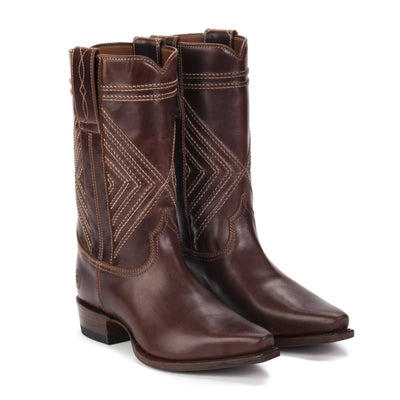 Womens Fayette Brown - Traditional Western Boots - Ranch Road Boots™ Front Side View
