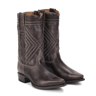 Womens Fayette Grey - Traditional Western Boots - Ranch Road Boots™ Front Side View
