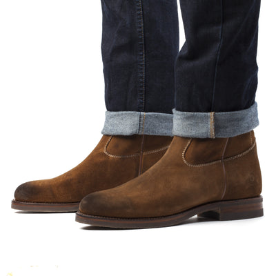 Mens Gunner Brown - Handmade Wellington Boots - Ranch Road Boots™ Pair