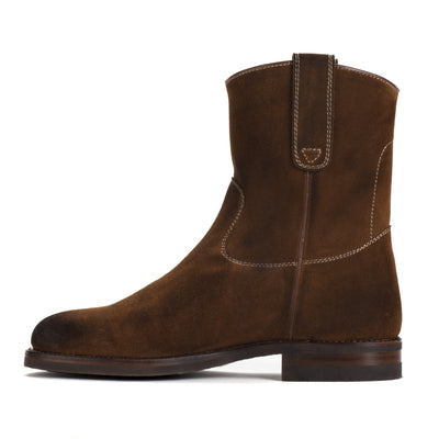 Mens Gunner Brown - Handmade Wellington Boots - Ranch Road Boots™ Side