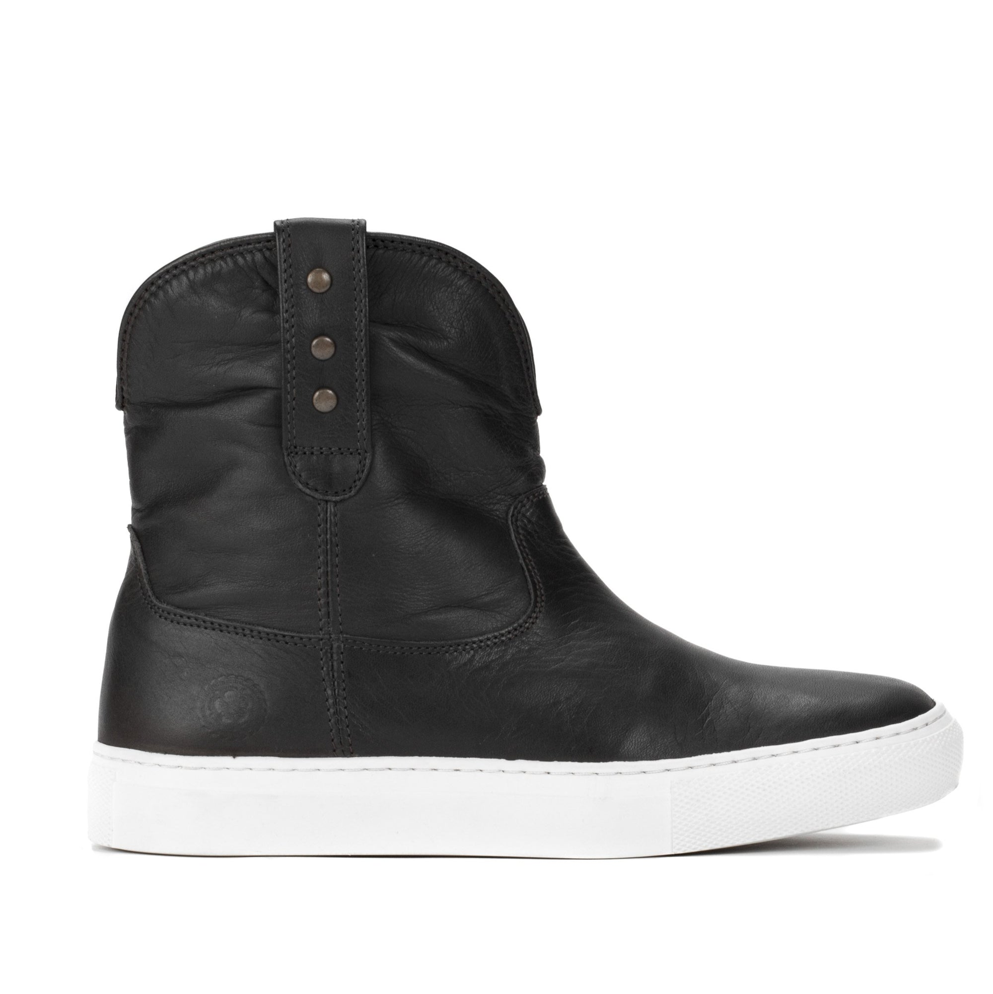 Womens Harper Black Handmade Leather Sneaker Boots - Ranch Road Boots™