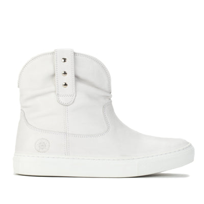 Womens Harper White Handmade Leather Sneaker Boots - Ranch Road Boots™