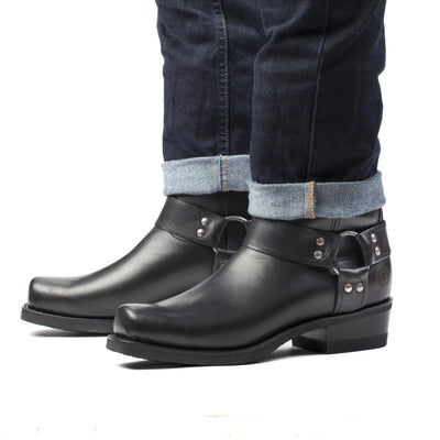 Mens Honcho Black - Handmade Leather Moto Boots - Ranch Road Boots™ Pair