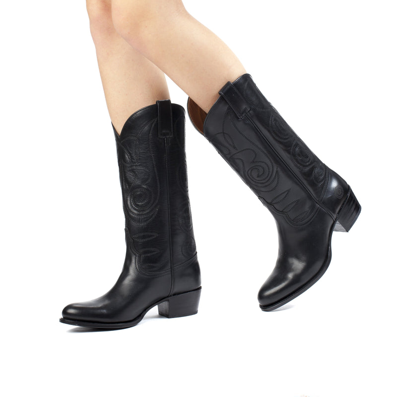Womens Kendall Black - Classic Cowboy Boots - Ranch Road Boots™