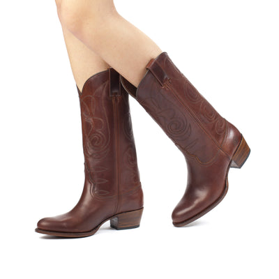Womens Kendall Brown - Contemporary Cowboy Boots - Ranch Road Boots™ Pair