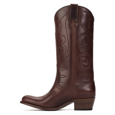 Womens Kendall Brown - Contemporary Cowboy Boots - Ranch Road Boots™ Side Stitching