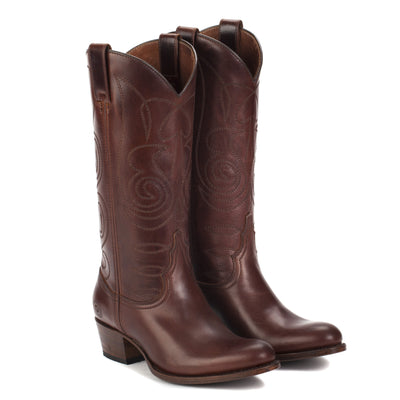 Womens Kendall Brown - Contemporary Cowboy Boots - Ranch Road Boots™ Front Side Pair View