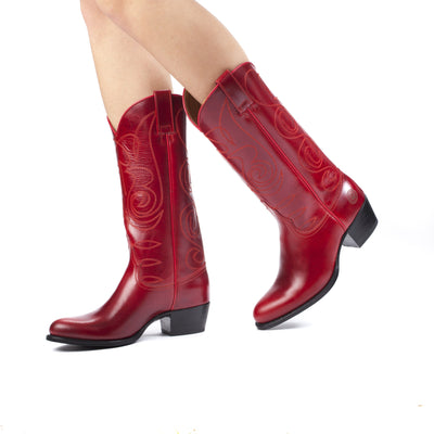 Womens Kendall Red - Luxury Leather Cowboy Boots - Ranch Road Boots™ Pair