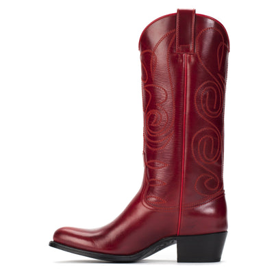 Womens Kendall Red - Luxury Leather Cowboy Boots - Ranch Road Boots™ Stitching