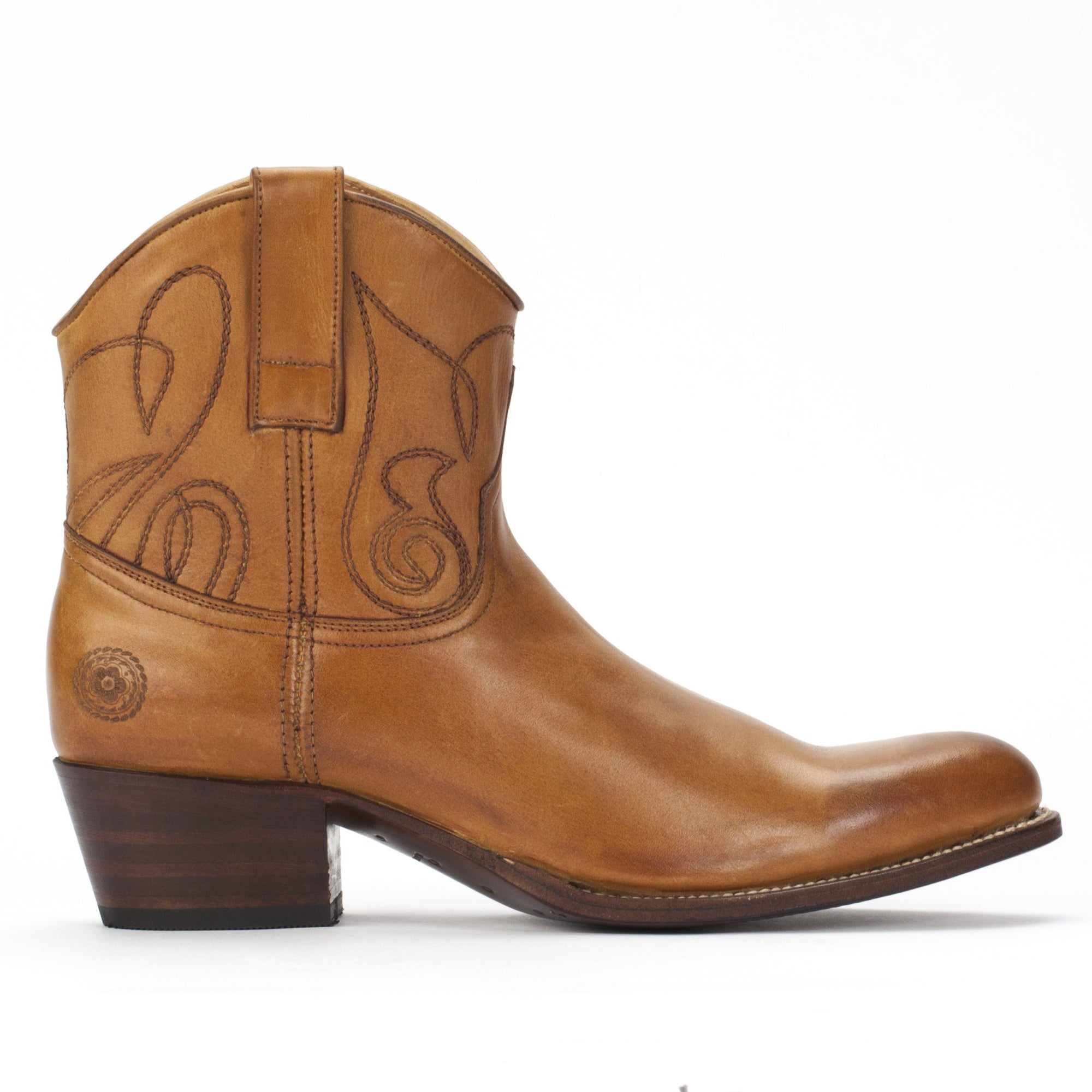 Womens Kendall Short Cognac - Luxury Cowboy Bootie - Ranch Road Boots™