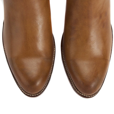 Womens Kendall Short Cognac - Luxury Cowboy Bootie - Ranch Road Boots™ Top