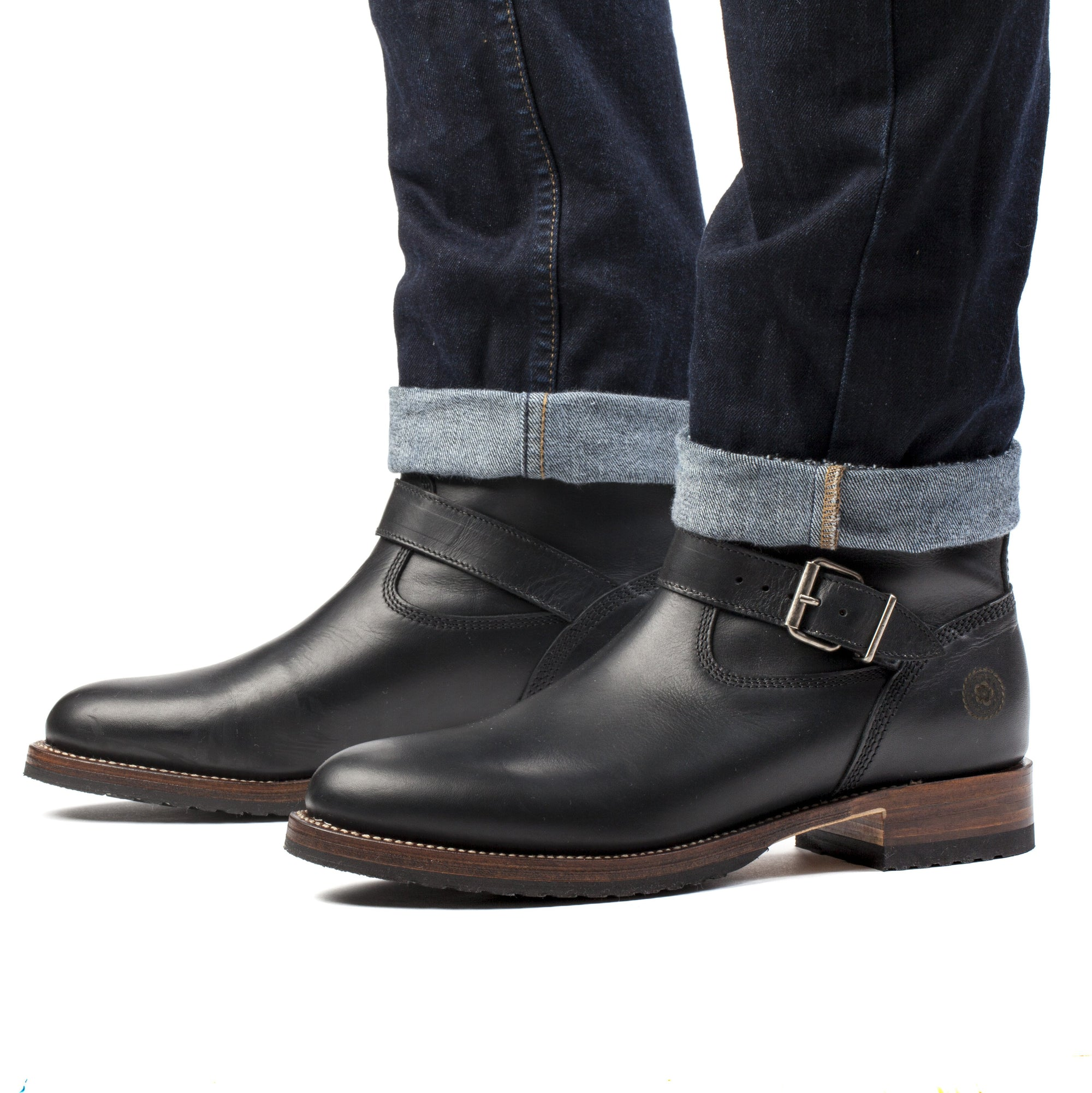 Mens Linesman Boot Black - Classic Engineer Boots - Ranch Road Boots™