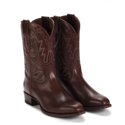 Mens Maverick Brown - Vintage-Style Cowboy Boots - Ranch Road Boots™ Front Side Pair View