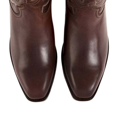 Mens Maverick Brown - Vintage-Style Cowboy Boots - Ranch Road Boots™ Top